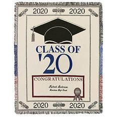 Personalized 2020 Graduation Throw