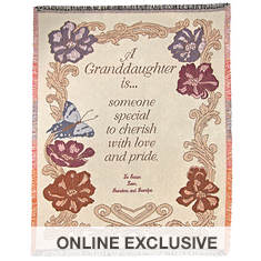 Personalization Granddaughter Throw