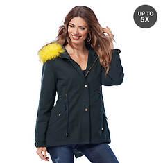 Faux Fur Anorak Coat