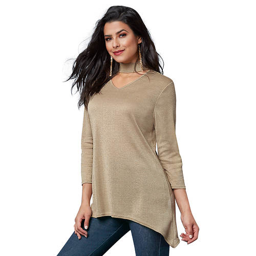 Cutout Lurex Sweater