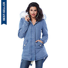 Denim Anorak Coat
