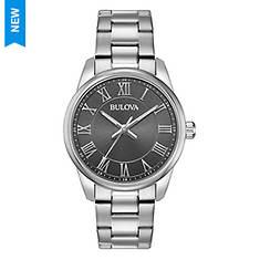 Bulova Silver Bracelet Watch with Grey Dial