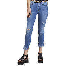 Free People Women's Great Heights Frayed Skinny Jeans