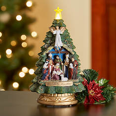 Musical Lighted Nativity Tree