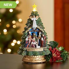 Musical Lighted Nativity Tree