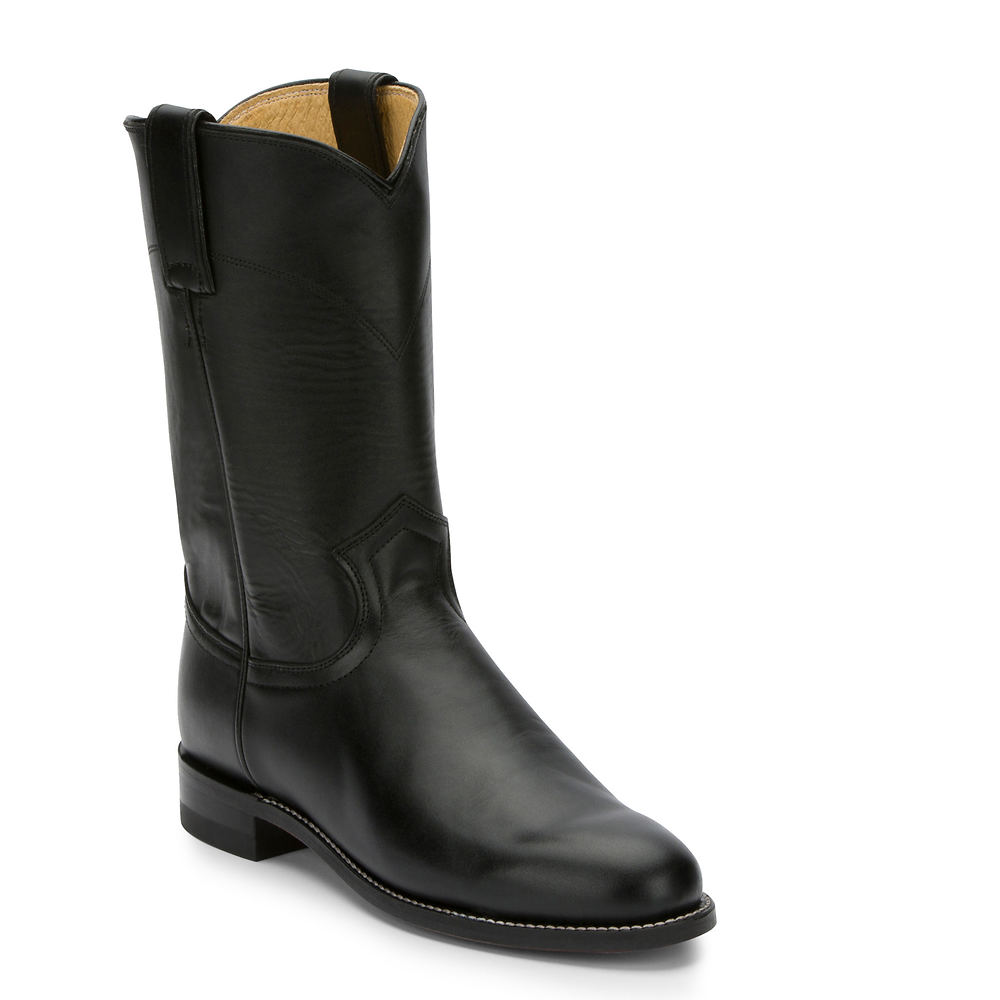 70s Shoes, Platforms, Boots, Heels | 1970s Shoes Justin Boots Cora 10 Roper Toe Womens Black Boot 10 A $183.99 AT vintagedancer.com