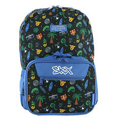 Skechers Twinkle Toes Boys' 2.0 Fusion Combo Zoo Party Backpack