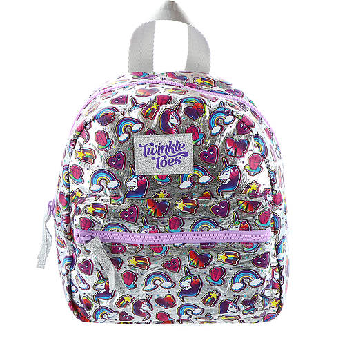 Skechers Twinkle Toes Girls' Metallic Minipack Unicorn Print Backpack