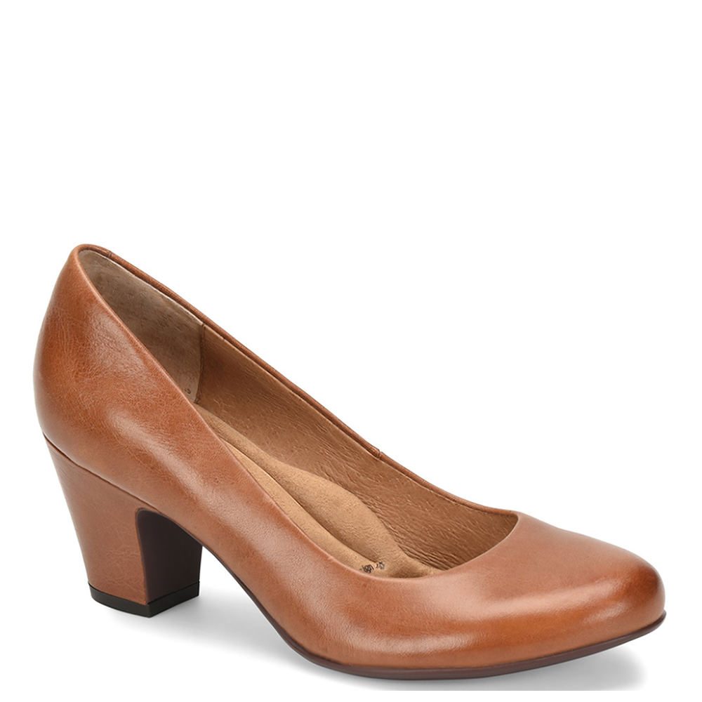 1940s Style Shoes, 40s Shoes, Heels, Boots Sofft Myka Womens Tan Pump 7 M $109.95 AT vintagedancer.com
