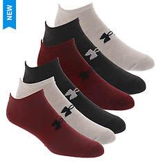 Under Armour Men's Essential Lite No Show 6-Pack Socks