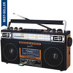 SuperSonic Bluetooth 4-Band Radio and Cassette Player