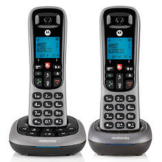 Motorola Cordless Answering System Base and 2 Handsets