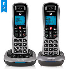 Motorola Cordless Answering System Base and 2 Handsets - Opened Item