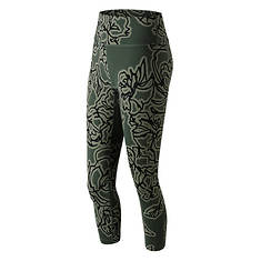 New Balance Women's Printed High Rise Transform Crop 2.0