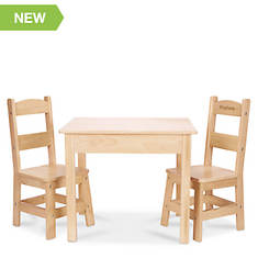 Melissa & Doug Personalized Wooden Table & Chairs Set