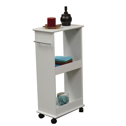 Rolling Side Cabinet with Shelves