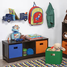 Bench with 3 Storage Cubbies