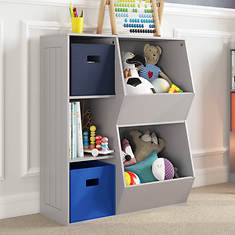 Cubby-Veggie Bin Floor Cabinet