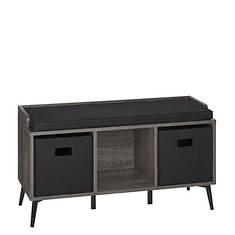 Woodbury Storage Bench with Cubbies (includes 2 Storage Bins)