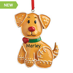 Personalized Gingerbread Pet Cat Ornament