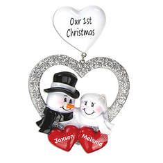 Personalized Our 1st Christmas Heart Ornament