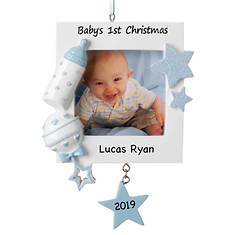 Personalized Baby's 1st Christmas Picture Frame Ornament