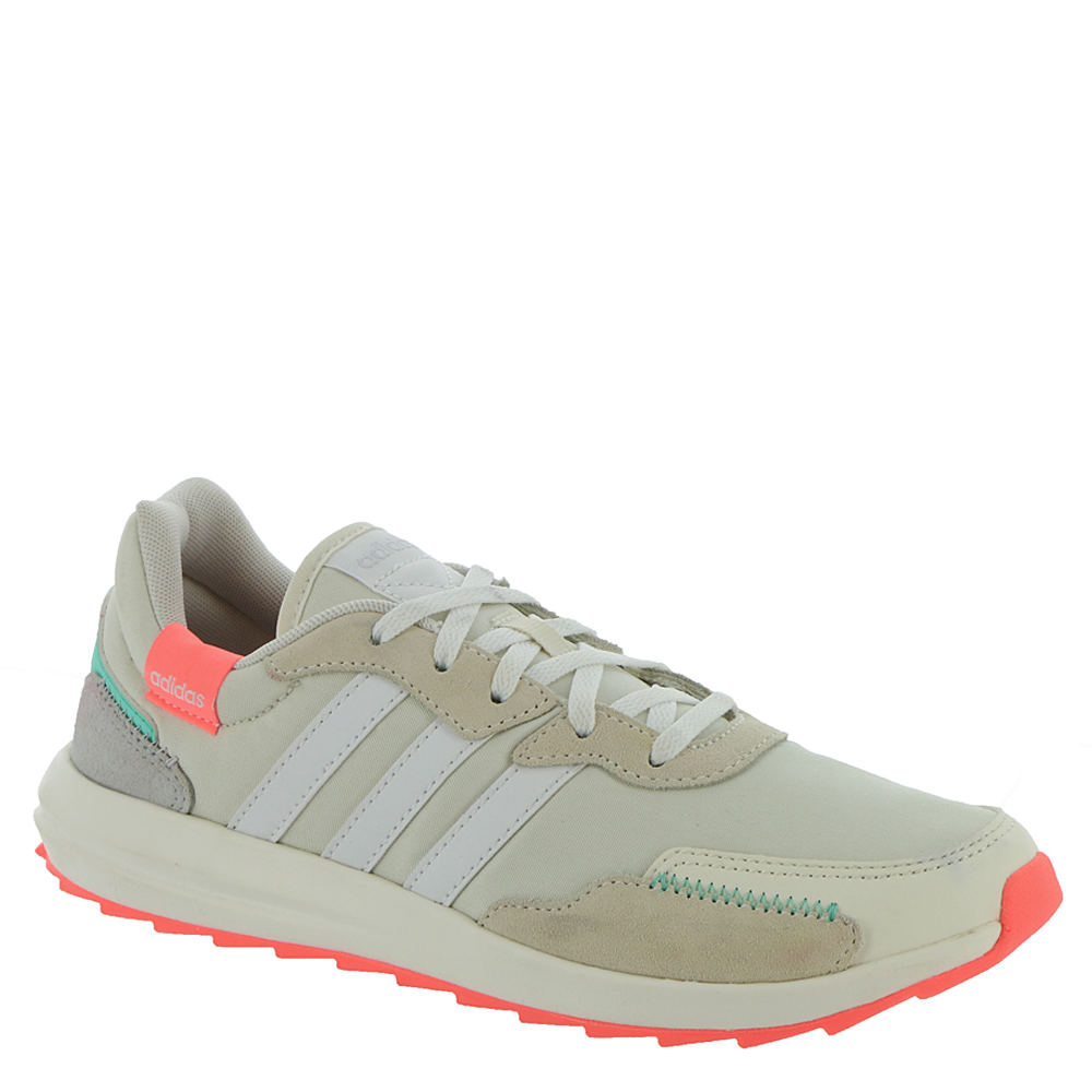 Vintage Sneakers for Men and Women adidas RetroRun X Womens White Sneaker 8.5 M $64.95 AT vintagedancer.com