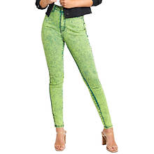 Neon Acid Wash Skinny Jean