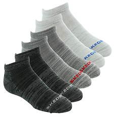Skechers Boys' S112222 6 Pk  1/2 Terry Low Cut Socks