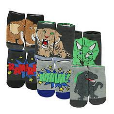 Skechers Boys' S112895 6 Pk  Non Terry Low Cut Socks