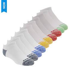 Skechers Boys' S107408 10 Pk 1/2 Terry No Show Socks