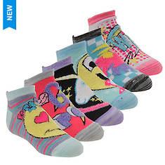 Skechers Girls' S111545 6 Pk Non Terry Low Cut Socks