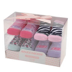 Skechers Girls' S111702 Infant Bootie Box Set