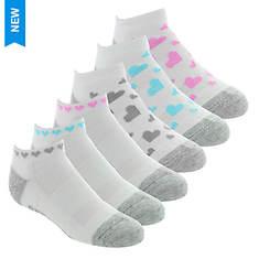 Skechers Girls' S112082 6 Pk 1/2 Terry Low Cut Socks