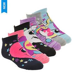 Skechers Girls' S112891 6 Pk Non Terry Low Cut Socks