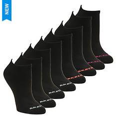 Skechers Girls' S107413 10 Pk 1/2 Terry No Show Socks