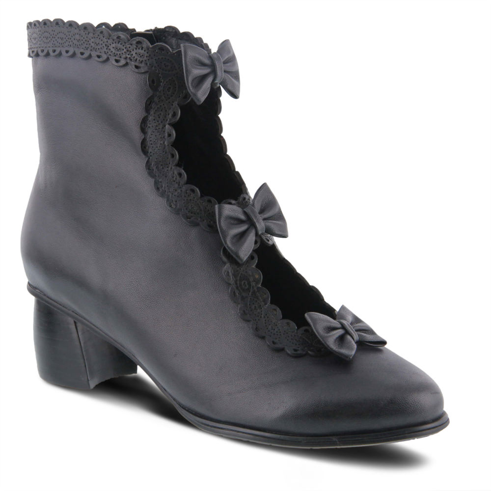 Edwardian Shoes & Boots | Titanic Shoes Spring Step Selenia Womens Black Boot Euro 41 US 9.5 - 10 M $179.95 AT vintagedancer.com
