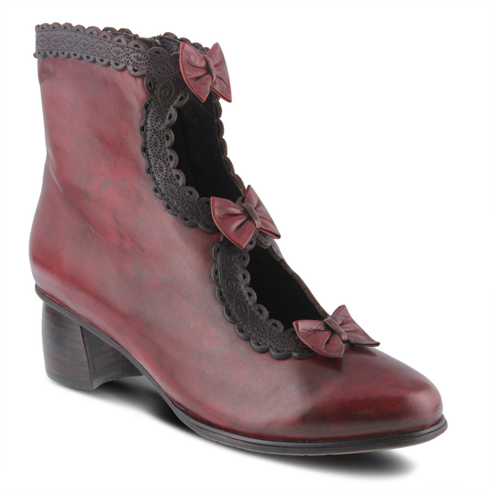 Edwardian Shoes & Boots | Titanic Shoes Spring Step Selenia Womens Burgundy Boot Euro 41 US 9.5 - 10 M $179.95 AT vintagedancer.com