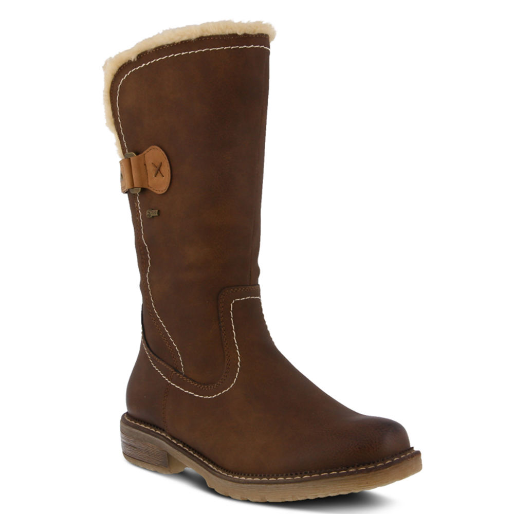 60s Shoes, Boots Spring Step Cagliari Womens Brown Boot Euro 38 US 7.5 - 8 M $109.95 AT vintagedancer.com