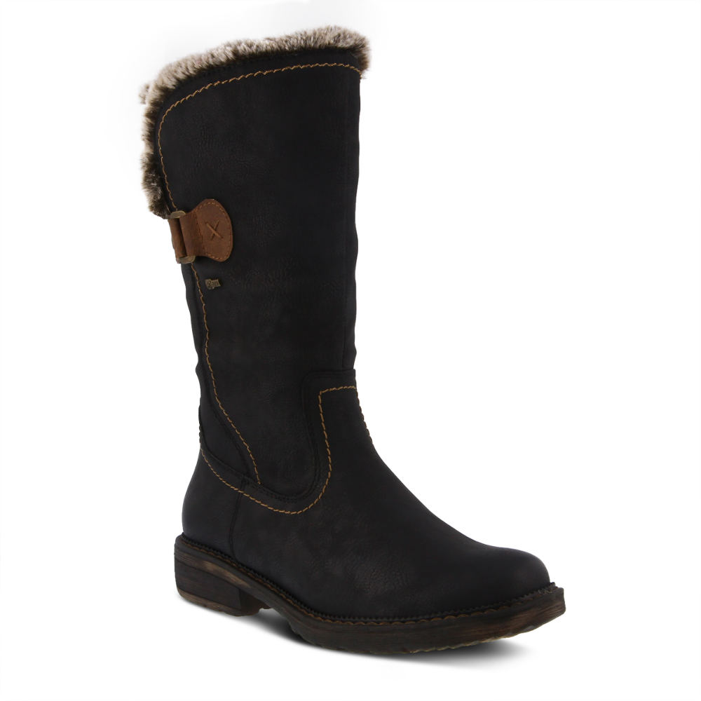 60s Shoes, Go Go Boots Spring Step Cagliari Womens Black Boot Euro 39 US 8.5 M $109.95 AT vintagedancer.com