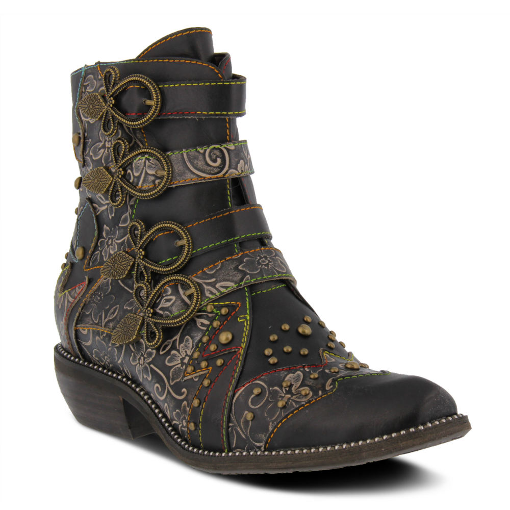 Steampunk Boots & Shoes, Heels & Flats Spring Step Rodeha Womens Black Boot Euro 37 US 6.5 - 7 M $149.95 AT vintagedancer.com