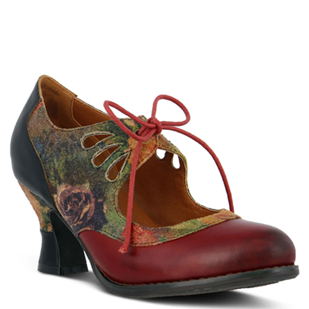 Edwardian Shoes – Styles for Women Spring Step Kallandra Womens Red Pump Euro 35 US 5 M $119.95 AT vintagedancer.com