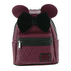 Loungefly Minnie Mouse Mini Backpack w/Velvet Bow