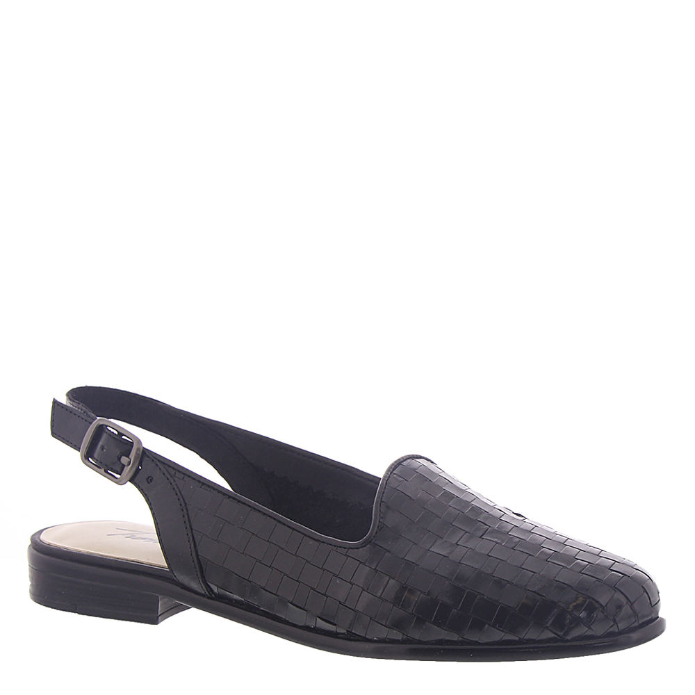 1940s Style Shoes, 40s Shoes Trotters Lena Womens Black Sandal 10 W $94.95 AT vintagedancer.com