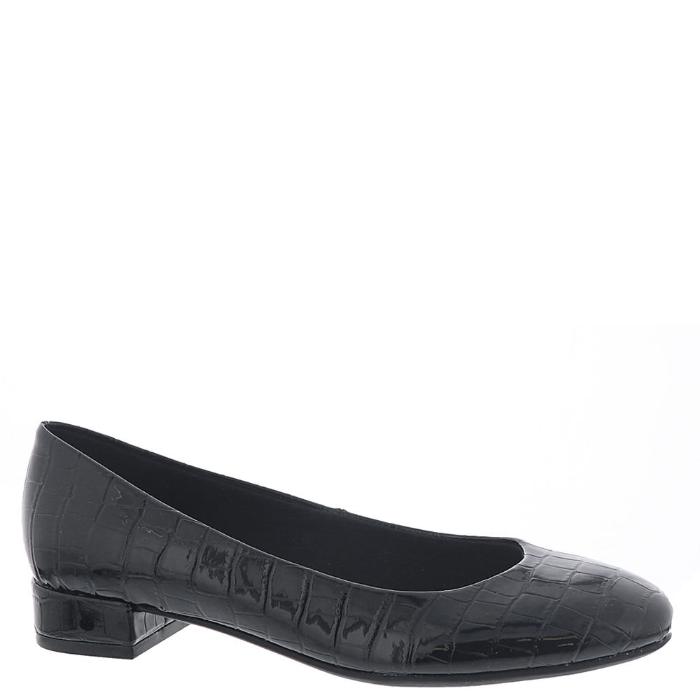 Retro Vintage Style Wide Shoes Easy Spirit Bell Womens Black Slip On 12 W $79.95 AT vintagedancer.com