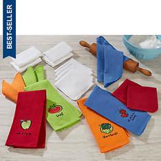 Farmer's Market 20-Piece Kitchen Towel Set