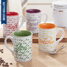 Inspirational Mug 4-Piece Set