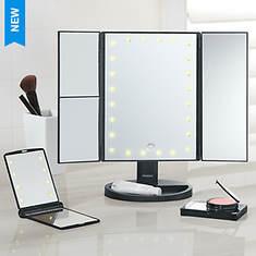 Vivitar Simply Beautiful Tri-Fold Mirror