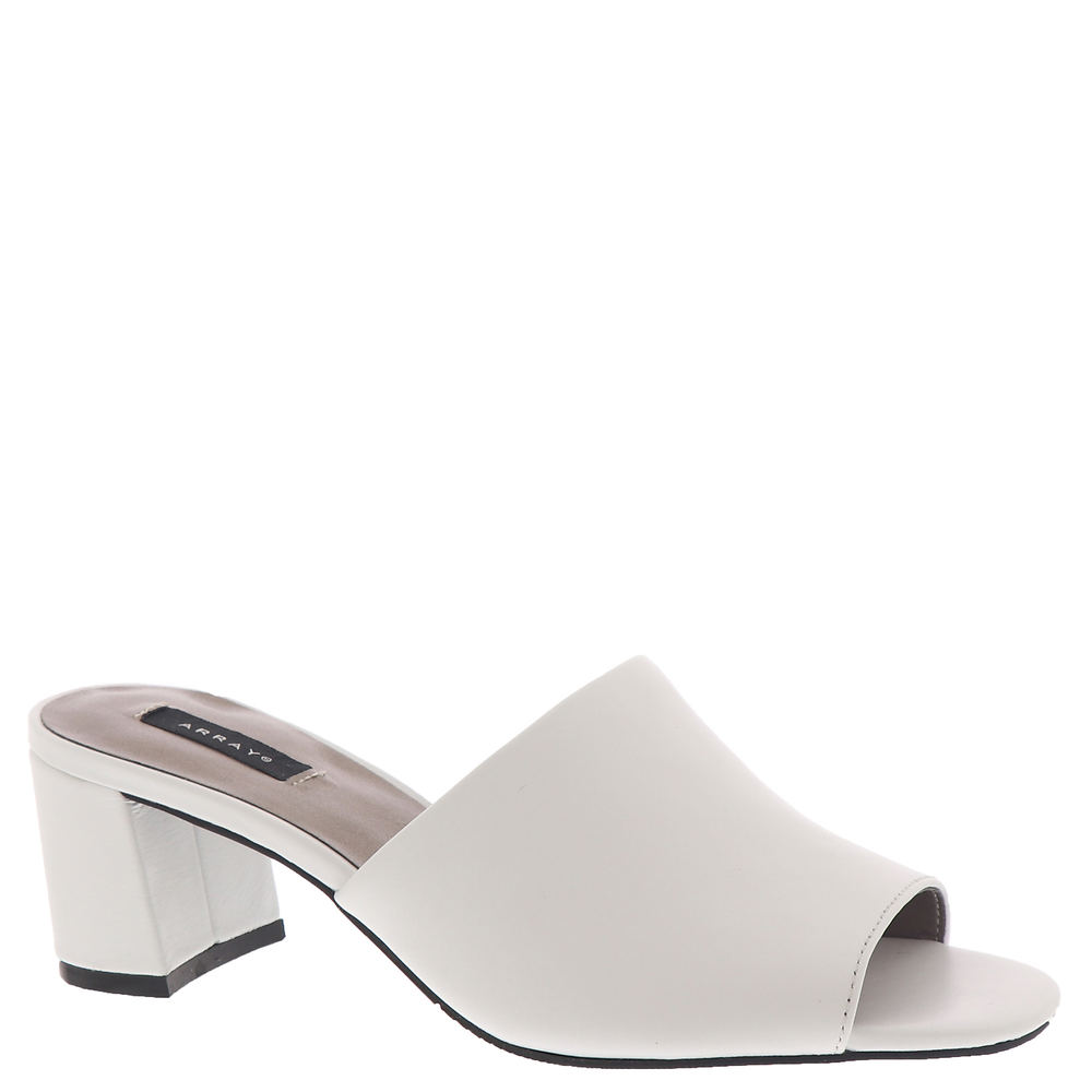 New Vintage Style Shoes for Spring ARRAY Mia Womens White Sandal 8.5 N $79.95 AT vintagedancer.com