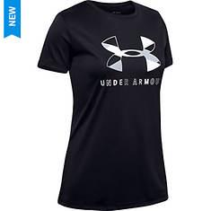 Under Armour Girls' Tech Graphic Big Logo SS